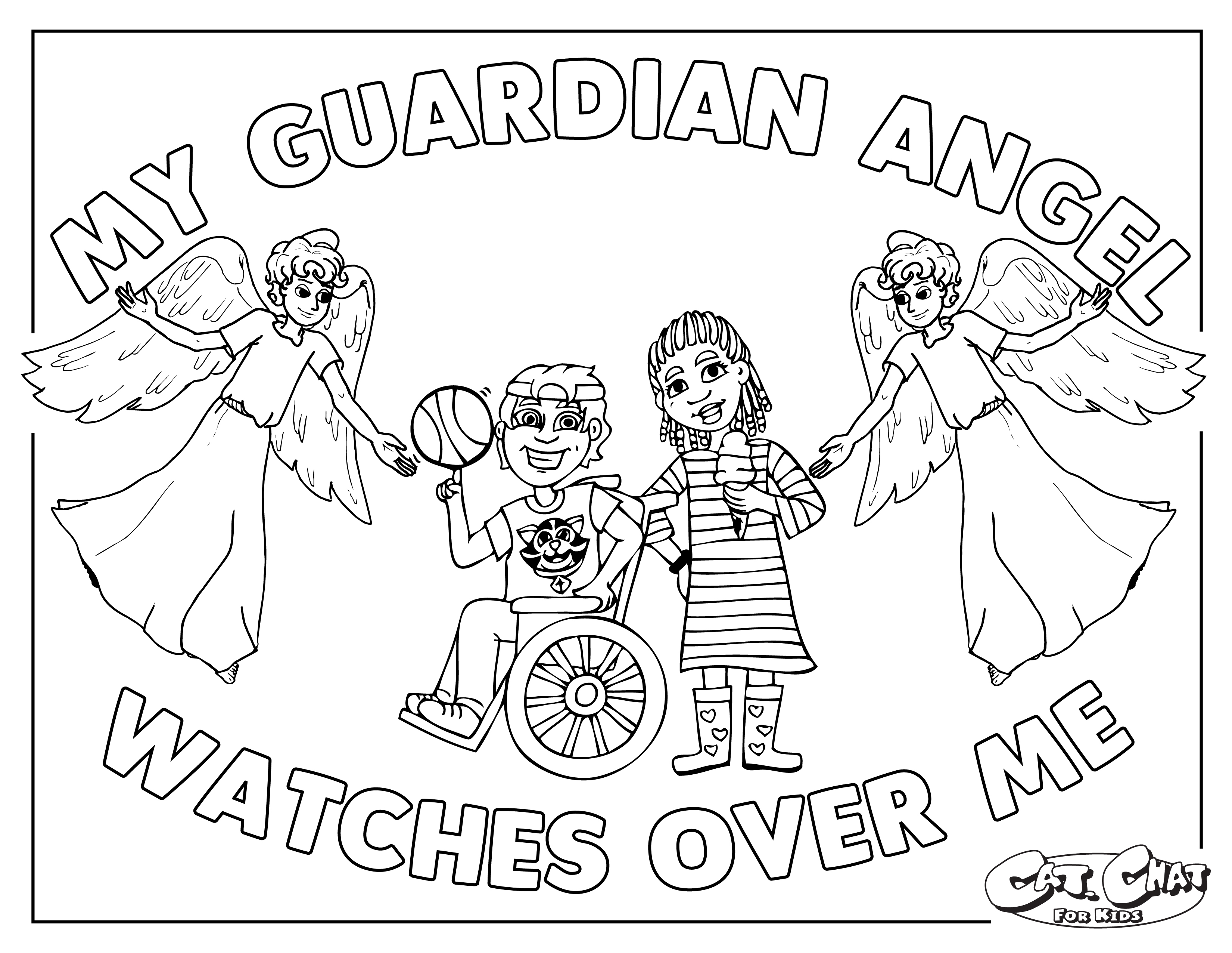 Guardian Angel coloring page 01