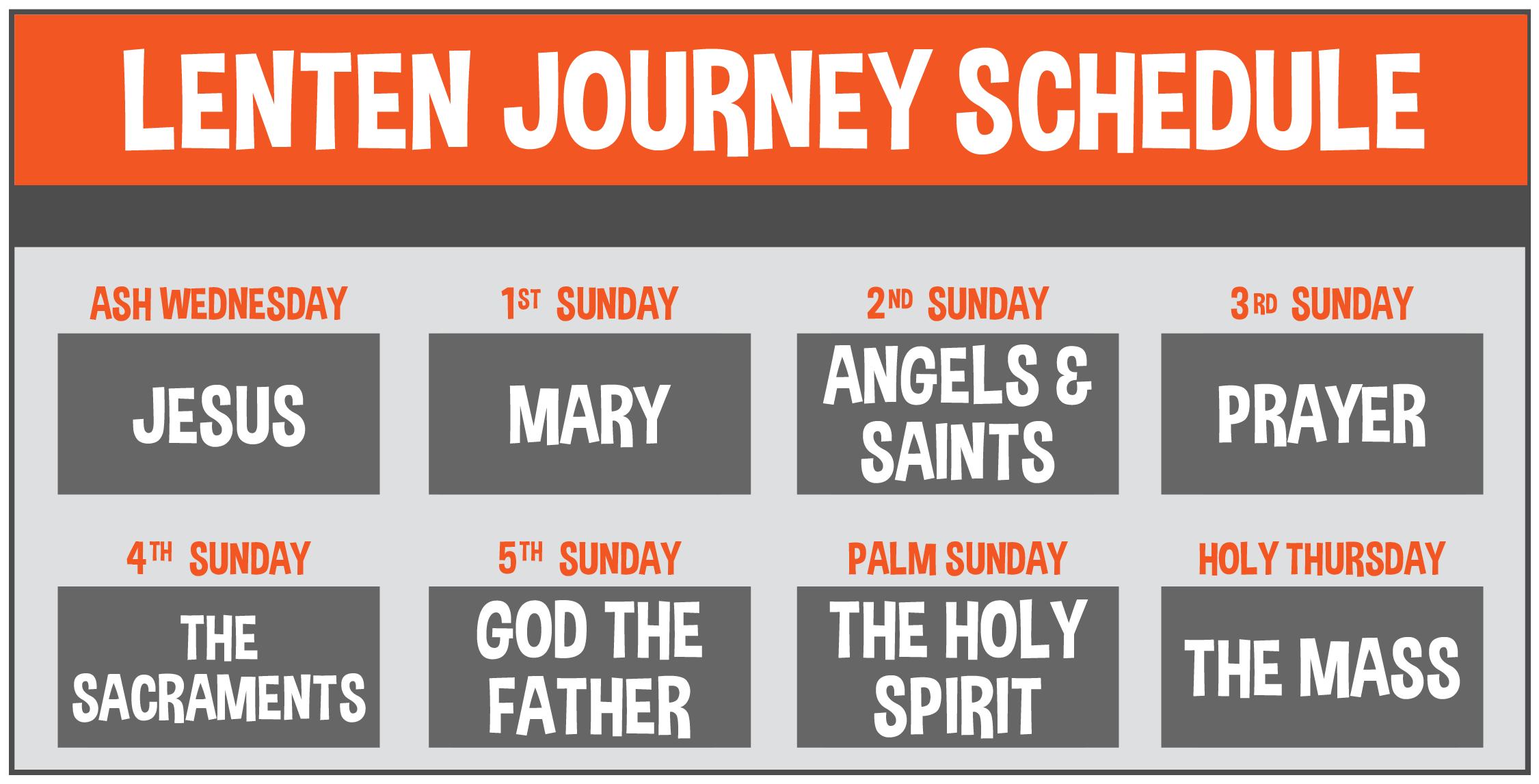 Lenten Journey Schedule 01