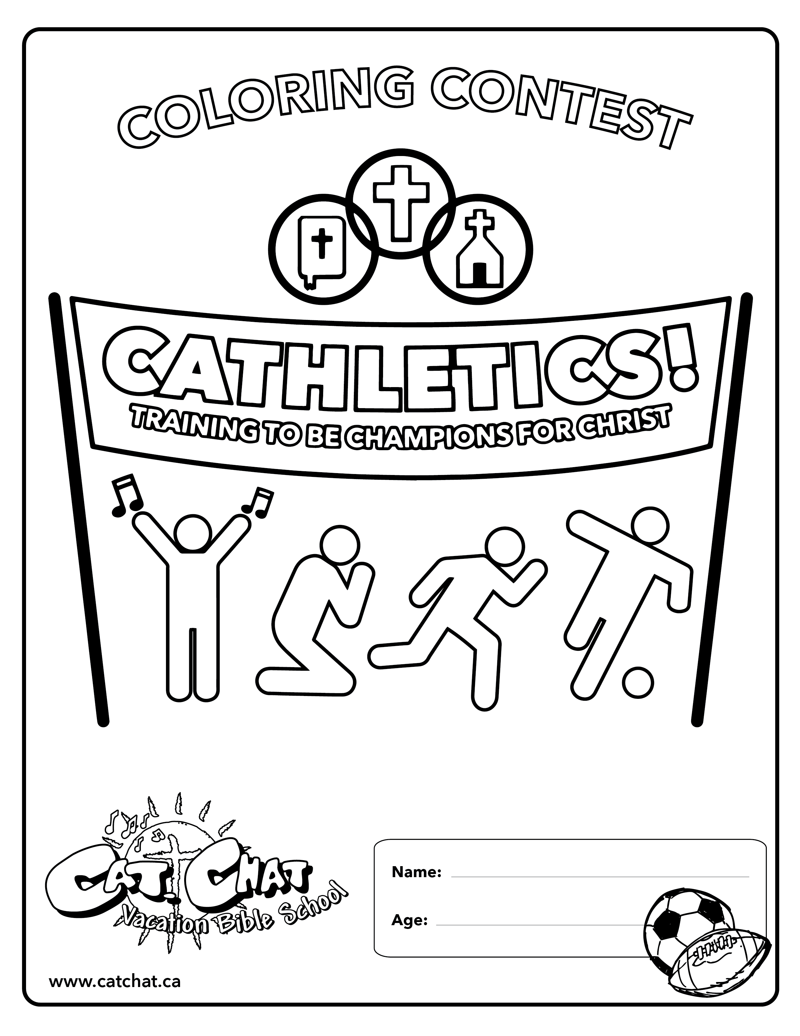 Cathletics VBS Coloring Contest 01