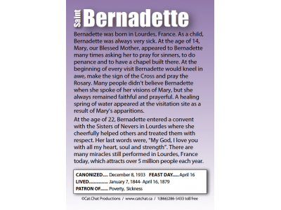 st_bernadette_saints_card_back