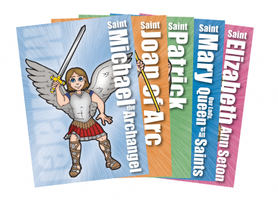 5 Pack of Saint Cards for Marvelous Mystery: The Mass Comes Alive VBS