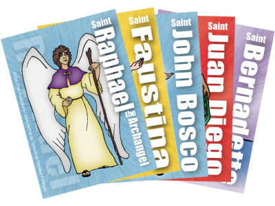 5 Pack of Saint Cards for Radical Ride VBS