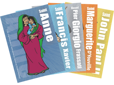5 Pack of Saint Cards for Cathletics VBS